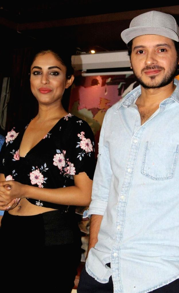 "Actors Divyendu Sharma and Priya Banerjee during the promotions of their upcoming film ""2016 The End"" in New Delhi on Sept 17, 2017. - Divyendu Sharma and Priya Banerjee"
