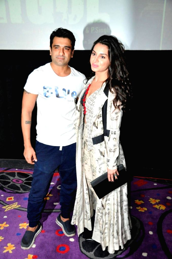 Actors Eijaz Khan and Suha Gezen during the press conference of film Shorgul in Mumbai on June 29, 2016. - Eijaz Khan and Suha Gezen