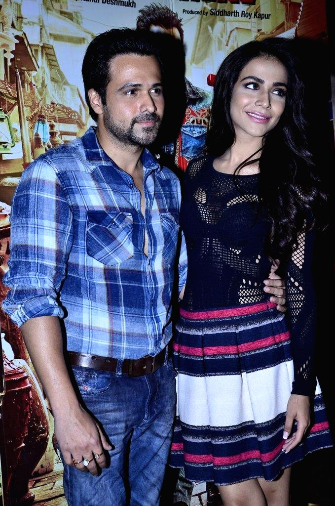 Actors Emraan Hashmi and Humaima Malik during the promotion of the upcoming film Raja Natwarlal in Mumbai, on August 9, 2014. - Emraan Hashmi and Humaima Malik