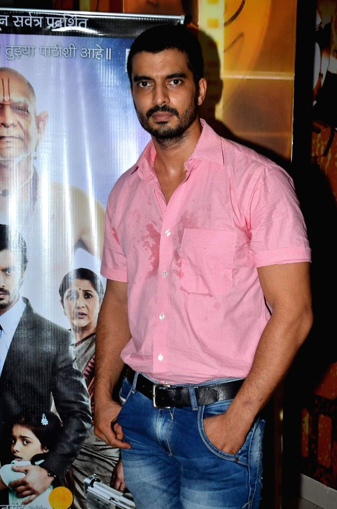 Actors Gashmeer Mahajani during the trailer launch of Marathi film Deool Banda in Mumbai, on July 9, 2015. - Gashmeer Mahajani