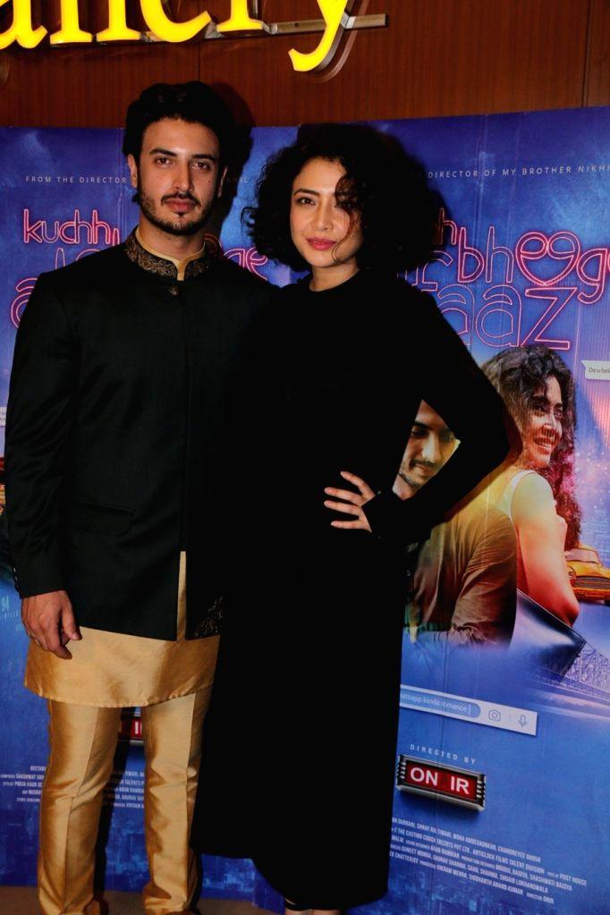 "Actors Geetanjali Thapa and Zain Khan Durrani at the special screening of film ""Kuchh Bheege Alfaaz"" in Mumbai on Feb 15, 2018. - Geetanjali Thapa and Zain Khan Durrani"