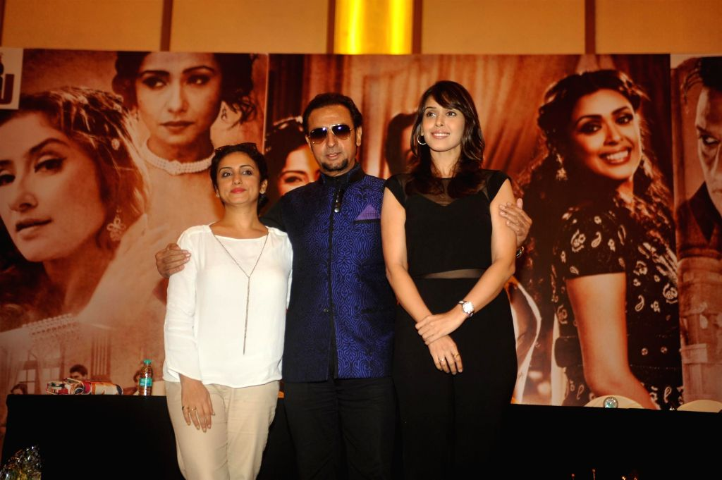Actors Gulshan Grover, Hrishitaa Bhatt and Divya Dutta during the music launch of film Chehere in Mumbai, on July 31, 2015. - Gulshan Grover, Hrishitaa Bhatt and Divya Dutta
