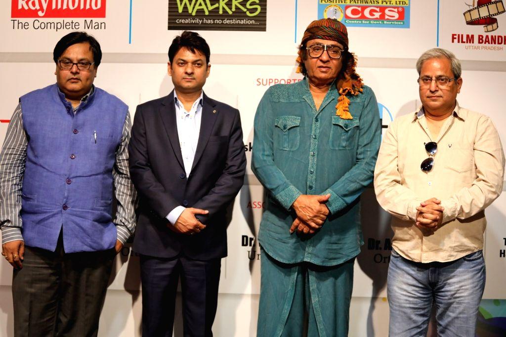 Actors Gurav Diwedi, Hasan Haider, Ranjit and Harvinder Mankkar felicitated at 3rd International Film Festival of Prayag in Mumbai on Feb 27, 2017. - Gurav Diwedi, Hasan Haider, Ranjit and Harvinder Mankkar