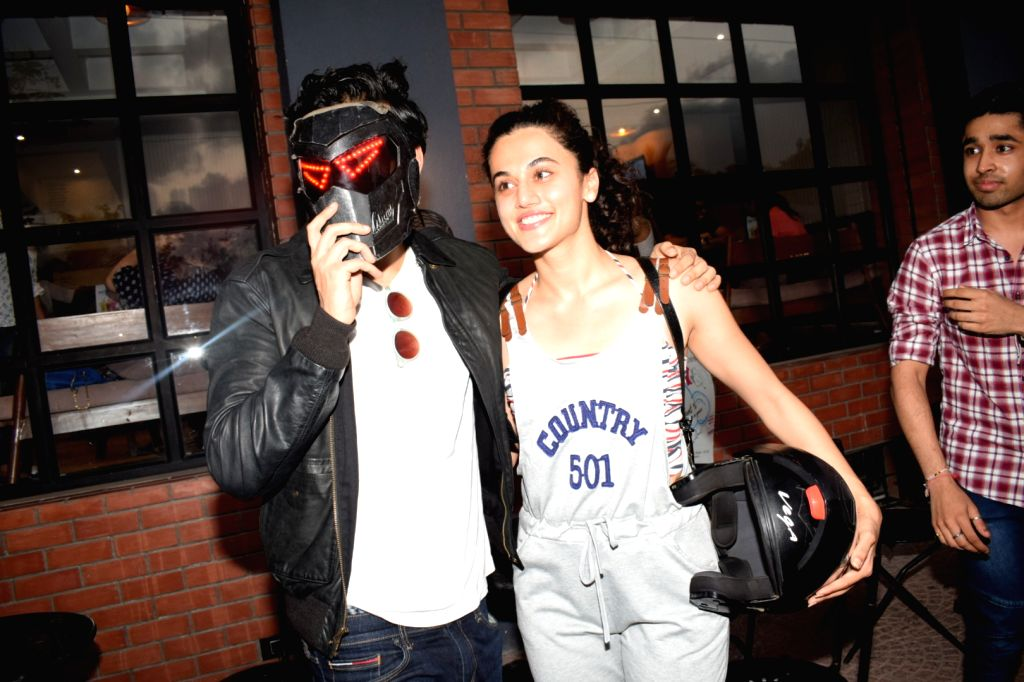 """Actors Harshvardhan Kapoor and Taapsee Pannu during the promotions of their upcoming film """"Bhavesh Joshi"""", in Mumbai on May 27, 2018. - Harshvardhan Kapoor, Taapsee Pannu and Bhavesh Joshi"""