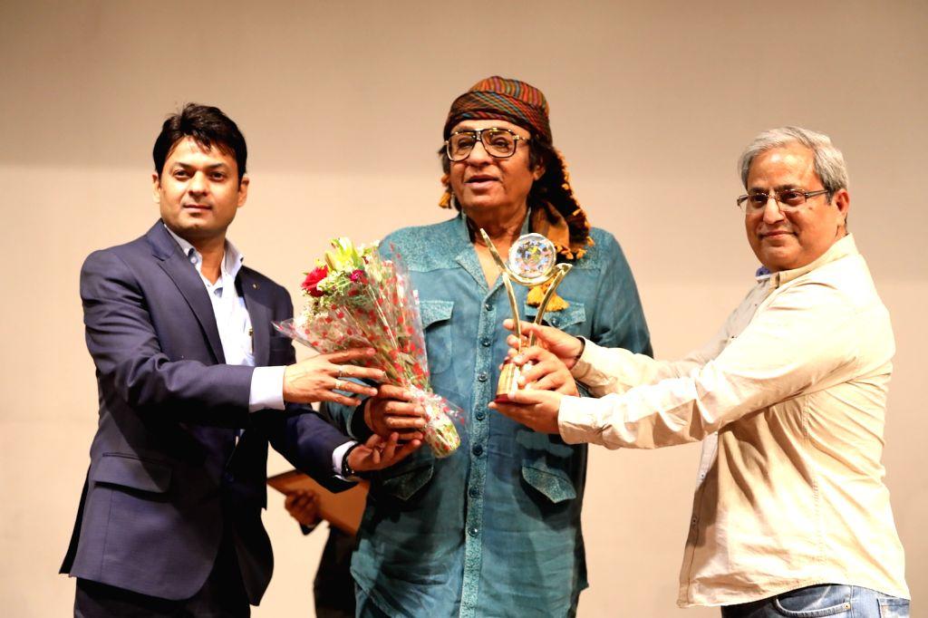 Actors Hasan Haider, Ranjeet, and Harvinder Mankkar felicitated at 3rd International Film Festival of Prayag in Mumbai on Feb 27, 2017. - Hasan Haider and Ranjeet