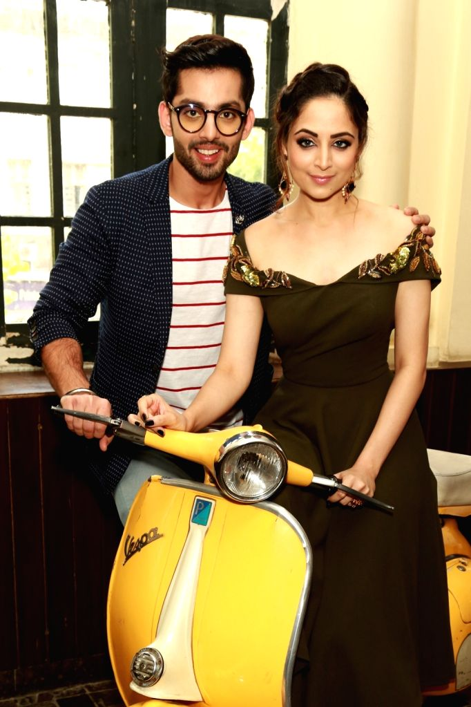 "Actors Himansh Kohli and Zoya Afroz during a press conference to promote their upcoming film ""Sweetie Weds NRI"" in New Delhi, on May 25, 2017. - Himansh Kohli and Zoya Afroz"
