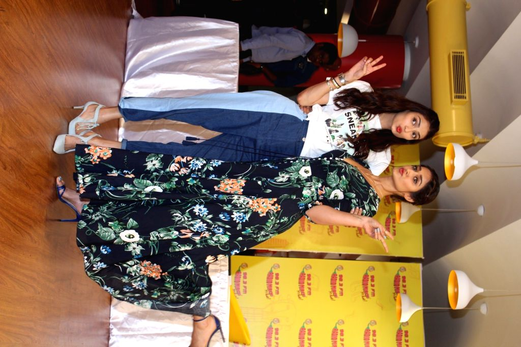 "Actors Ileana D'Cruz and Athiya Shetty during the song launch ""Goggle Pake"" from their upcoming film ""Mubarakan"" at Radio Mirchi Studio in Mumbai on July 6, 2017. - Ileana D'Cruz and Athiya Shetty"