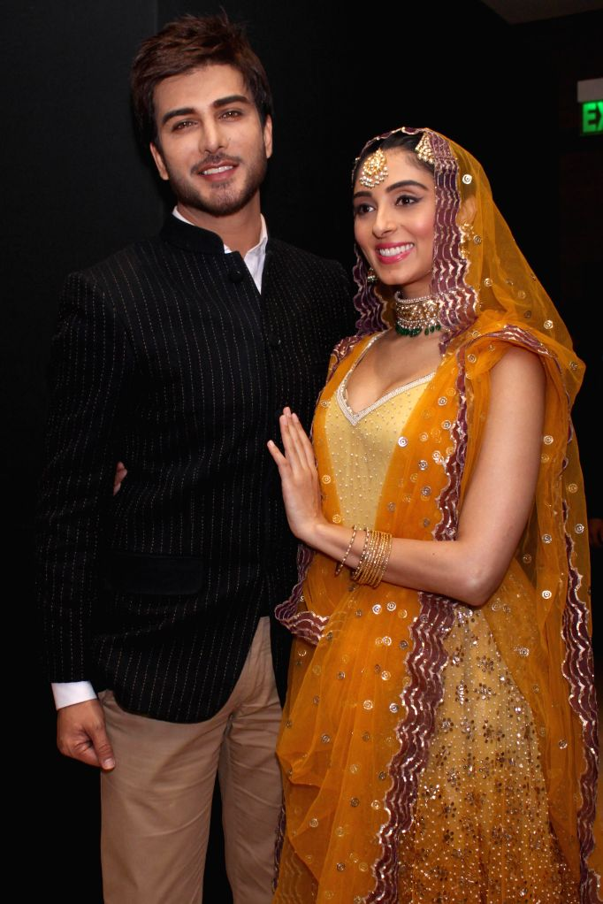 Actors Imran Abbas and Pernia Qureshi during the music launch of upcomming film  `Jaanisaar` in New Delhi, on Aug 5, 2015. - Imran Abbas and Pernia Qureshi
