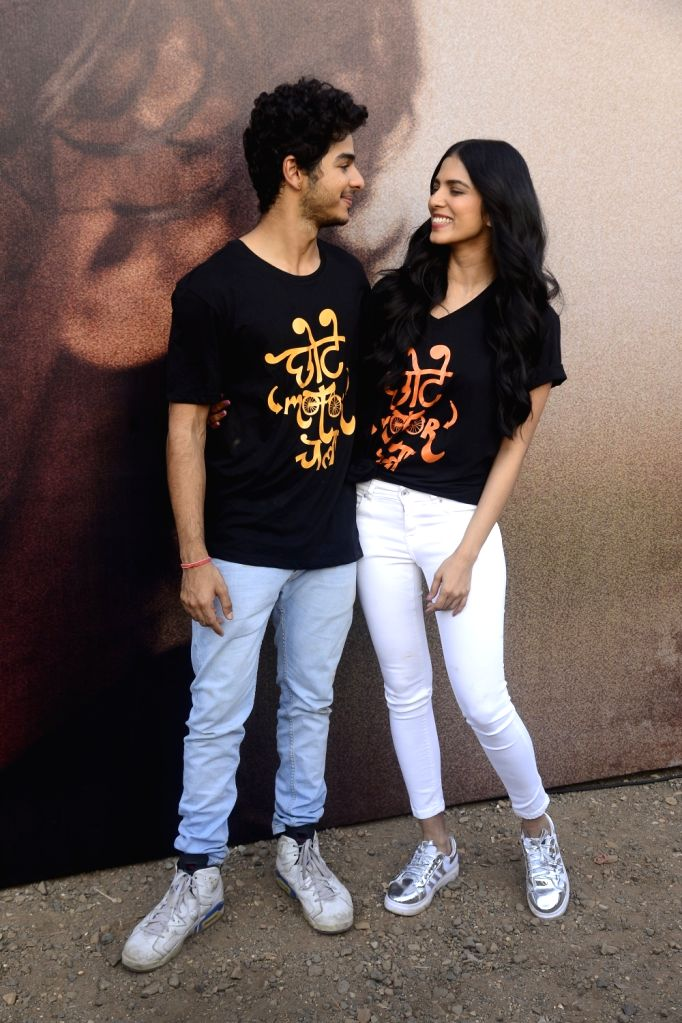 "Actors Ishaan Khatter and Malavika Mohanan at the song launch of their upcoming film ""Beyond the Clouds"" in Mumbai on April 6, 2018. - Ishaan Khatter and Malavika Mohanan"