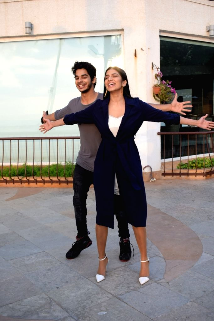 """Actors Ishaan Khatter and Malavika Mohanan during an interview for their upcoming film """"Beyond The Clouds"""", on March 30, 2018. - Ishaan Khatter and Malavika Mohanan"""