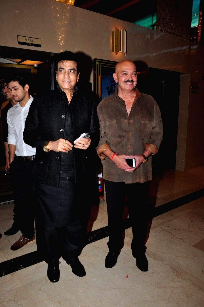 Actors Jeetendra and Rakesh Roshan during the premiere of film Days of Tafree, in Mumbai, on Sept 21, 2016. - Jeetendra and Rakesh Roshan