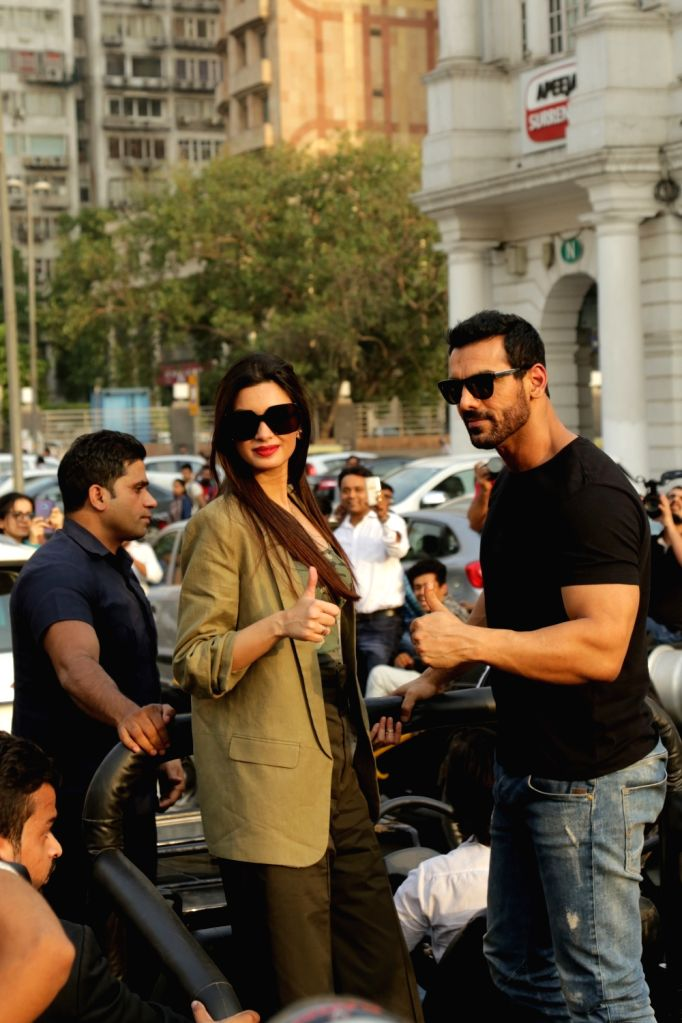 """Actors John Abraham and Diana Penty during the promotions of their upcoming film """"Parmanu: The Story of Pokhran"""", in New Delhi on May 22, 2018. - John Abraham and Diana Penty"""