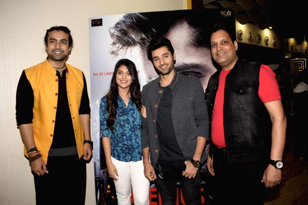 "Actors Jubin Nautiyal, Ishitha Chauhan and Filmmaker Anil Sharma and Producer Deepak Mukut at the trailer launch of upcoming film ""Genius"" in Mumbai, on July 24, 2018. - Filmmaker Anil Sharma, Jubin Nautiyal and Ishitha Chauhan"
