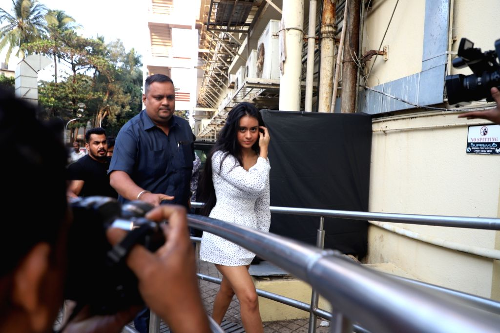 "Actors Kajol and Ajay Devgn's daughter Nysa Devgn arrives at the special screening of her parents' upcoming film ""Tanhaji: The Unsung Warrior"" in Mumbai on Jan 9, 2020. - Kajol and Ajay Devg"