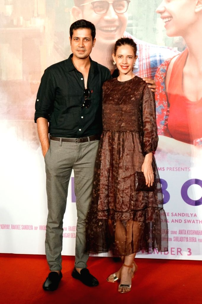 "Actors Kalki Koechlin and Sumeet Vyas during the trailer launch of film ""Ribbon"" in Mumbai on Oct 3, 2017. - Kalki Koechlin and Sumeet Vyas"
