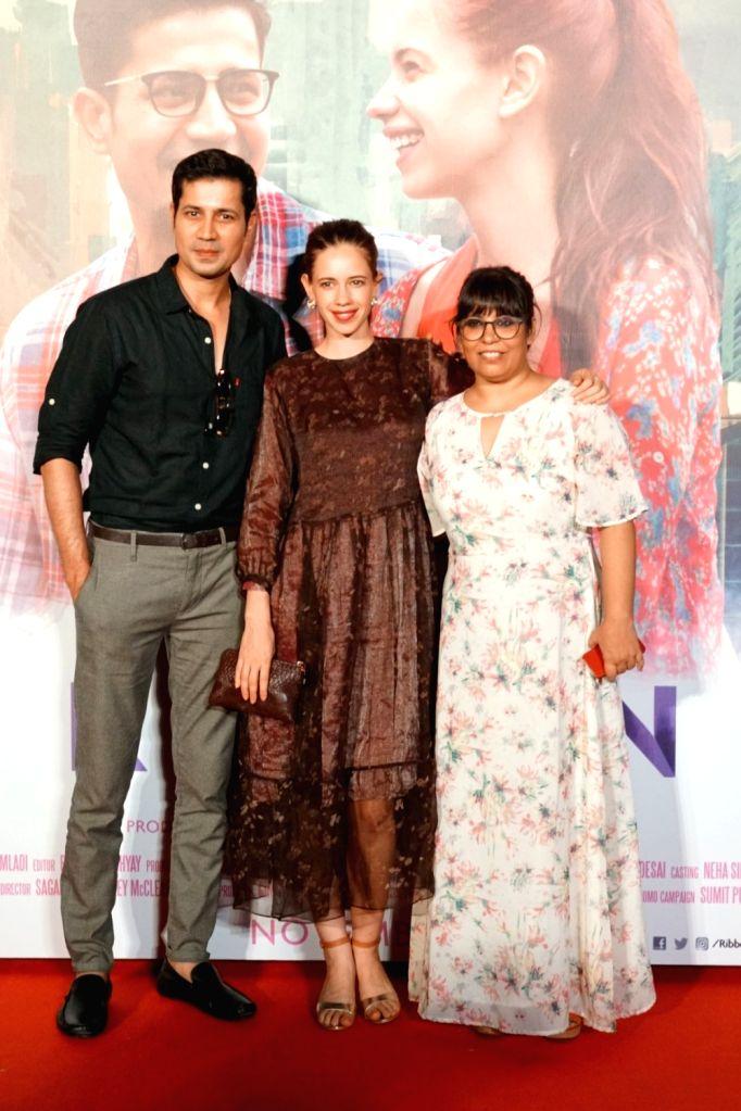 "Actors Kalki Koechlin, Sumeet Vyas and Director Rakhee Sandilya during the trailer launch of film ""Ribbon"" in Mumbai on Oct 3, 2017. - Kalki Koechlin, Sumeet Vyas and Director Rakhee Sandilya"
