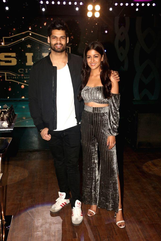 "Actors Karan Kapadia and Ishita Dutta at the wrap-up party of their upcoming film ""Blank"" in Mumbai, on April 12, 2019. - Karan Kapadia and Ishita Dutta"