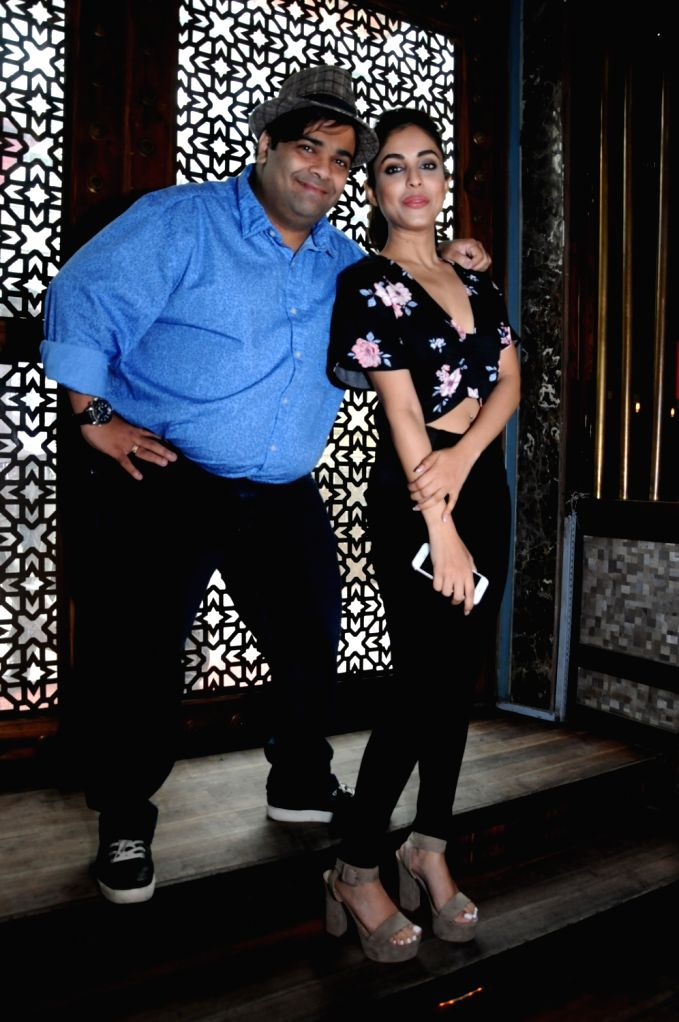 "Actors Kiku Sharda and Priya Banerjee during the promotions of their upcoming film ""2016 The End"" in New Delhi on Sept 17, 2017. - Kiku Sharda and Priya Banerjee"