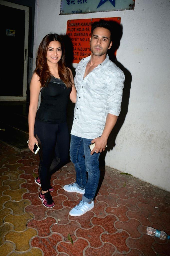 Actors Kriti Kharbanda and Pulkit Samrat seen at Andheri in Mumbai on Feb 7, 2018. - Kriti Kharbanda and Pulkit Samrat