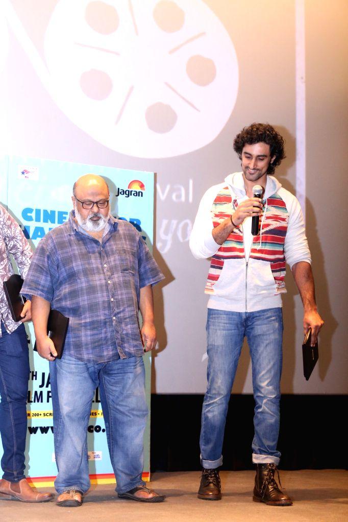 Actors Kunal Kapoor and Saurabh Shukla during the screening of film ``Kaun Kitne Paani Mein`` at the Jagran Film Festival in New Delhi on July 5, 2015. - Kunal Kapoor and Saurabh Shukla
