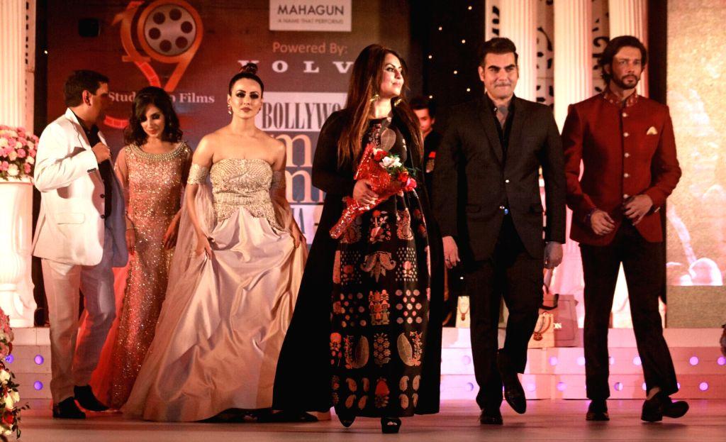 Actors Mahima Chaudhry, Arbaaz Khan, Sana Khan and Rajneesh Duggal during Bollywood Mr. And Miss India 2017 in New Delhi on June 24, 2017. - Mahima Chaudhry, Arbaaz Khan, Sana Khan and Rajneesh Duggal