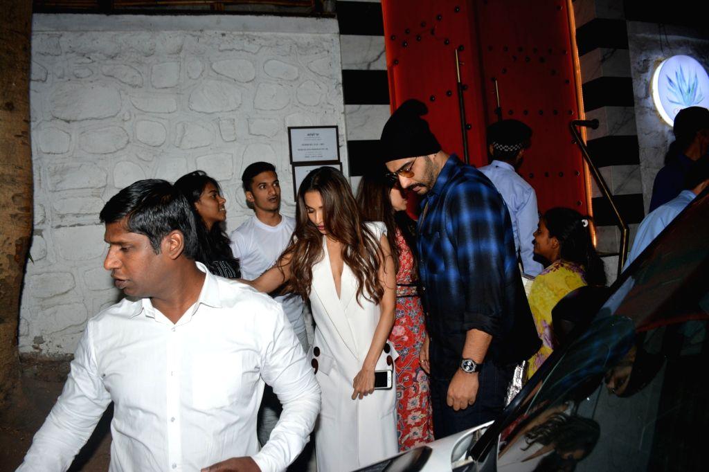 Actors Malaika Arora and Arjun Kapoor seen at Mumbai's Bandra, on Feb 5, 2019. - Malaika Arora and Arjun Kapoor