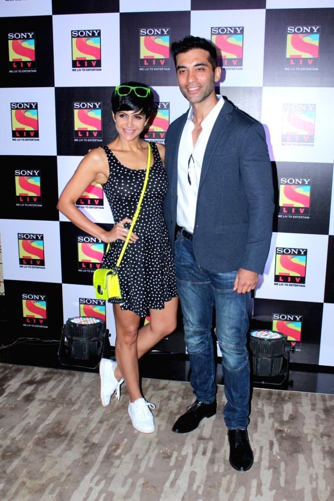 Actors Mandira Bedi and Kushaal Punjabi during a Screening Of Sony Liv Short Films 'Papa We Love U Too, in Mumbai on June 22, 2017. - Mandira Bedi and Kushaal Punjabi