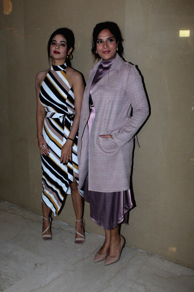 "Actors Meera Chopra and Richa Chadha at the trailer launch of their upcoming film ""Section 375"" in Mumbai on Aug 13, 2019. - Meera Chopra and Richa Chadha"