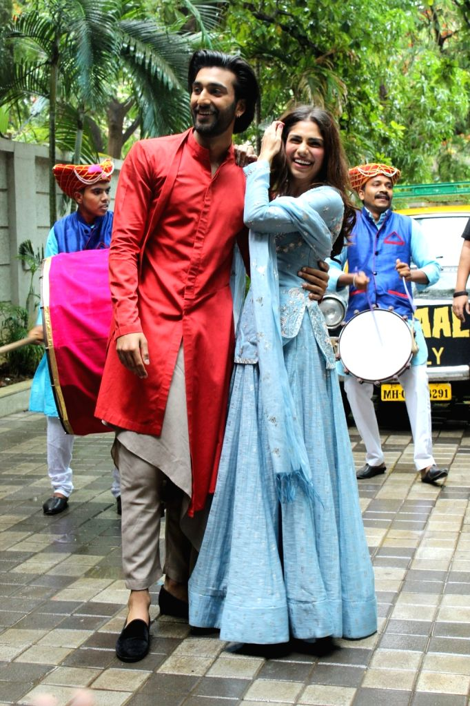 "Actors Meezaan Jaffrey and Sharmin Segal at the song launch of their upcoming film ""Malaal"", in Mumbai on June 12, 2019. - Meezaan Jaffrey and Sharmin Segal"