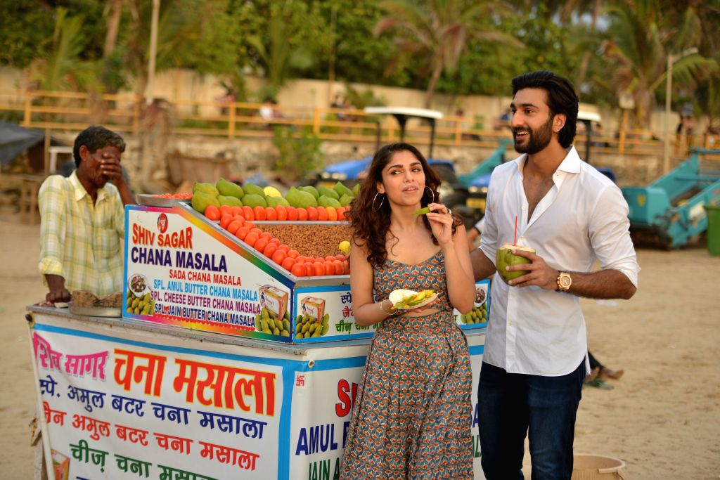 "Actors Meezaan Jaffrey and Sharmin Segal during the promotion of their upcoming film ""Malaal"" at Juhu beach, in Mumbai on June 11, 2019. - Meezaan Jaffrey and Sharmin Segal"