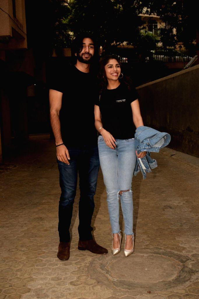Actors Meezan and Sharmin Segal seen at Sanjay Leela Bhansali's office in Mumbai on May 31, 2019. - Meezan and Sharmin Segal