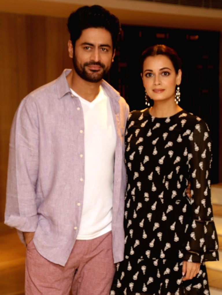 "Actors Mohit Raina and Dia Mirza during the promotions of their upcoming web series ""Kaafir"" in New Delhi, on June 12, 2019. - Mohit Raina and Dia Mirza"