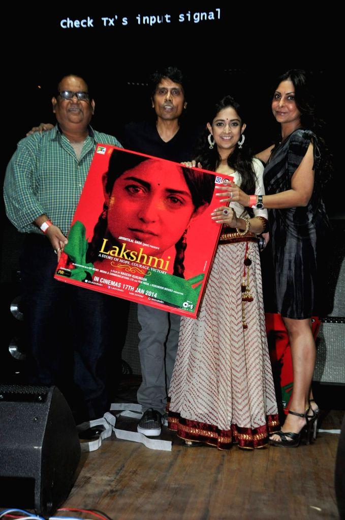 Actors Monali Thakur, Shefali Shah, filmmakers Nagesh Kukunoor and Satish Kaushik during the music launch of film Lakshmi at Hard Rock Cafe in Mumbai on December 20, 2013. - Monali Thakur and Shefali Shah