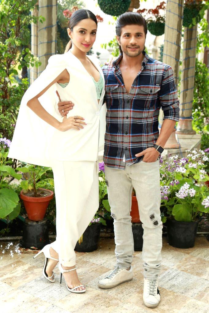Actors Mustafa Burmawala and Kiara Advani during the promotion of their upcoming film ''Machine'' in New Delhi on March 9, 2017. - Mustafa Burmawala and Kiara Advani