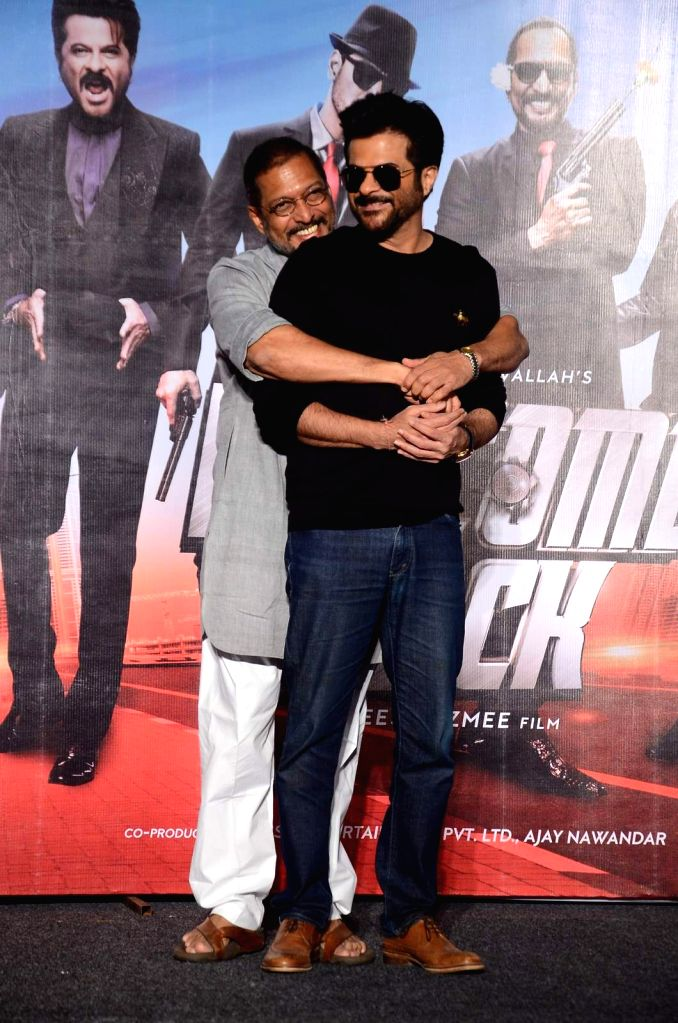 Actors Nana Patekar, Anil Kapoor during the launch of title track song of film Welcome Back in Mumbai on Aug 8, 2015. - Nana Patekar and Anil Kapoor