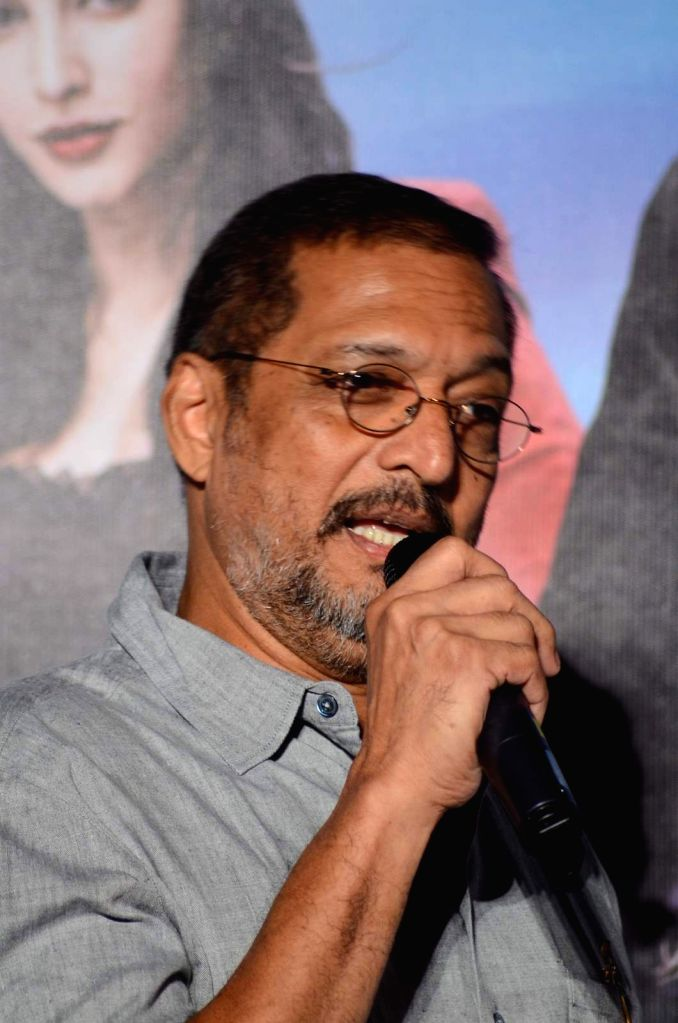 Actors Nana Patekar during the launch of title track song of film Welcome Back in Mumbai on Aug 8, 2015. - Nana Patekar
