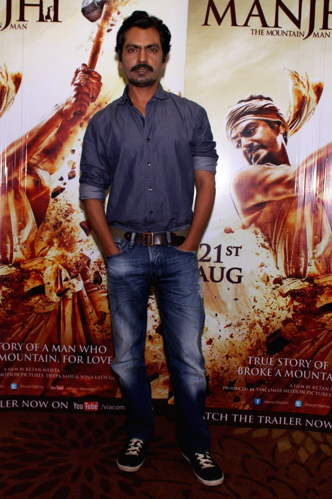 Actors Nawazuddin Siddiqui during the promotion of film Manjhi- The Mountain Man, in New Delhi, on Aug 18, 2015. - Nawazuddin Siddiqui