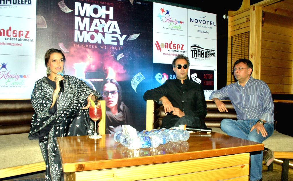 Actors Neha Dhupia and Ranvir Shorey during promotional programme in Kolkata on Nov 14, 2016. - Neha Dhupia and Ranvir Shorey