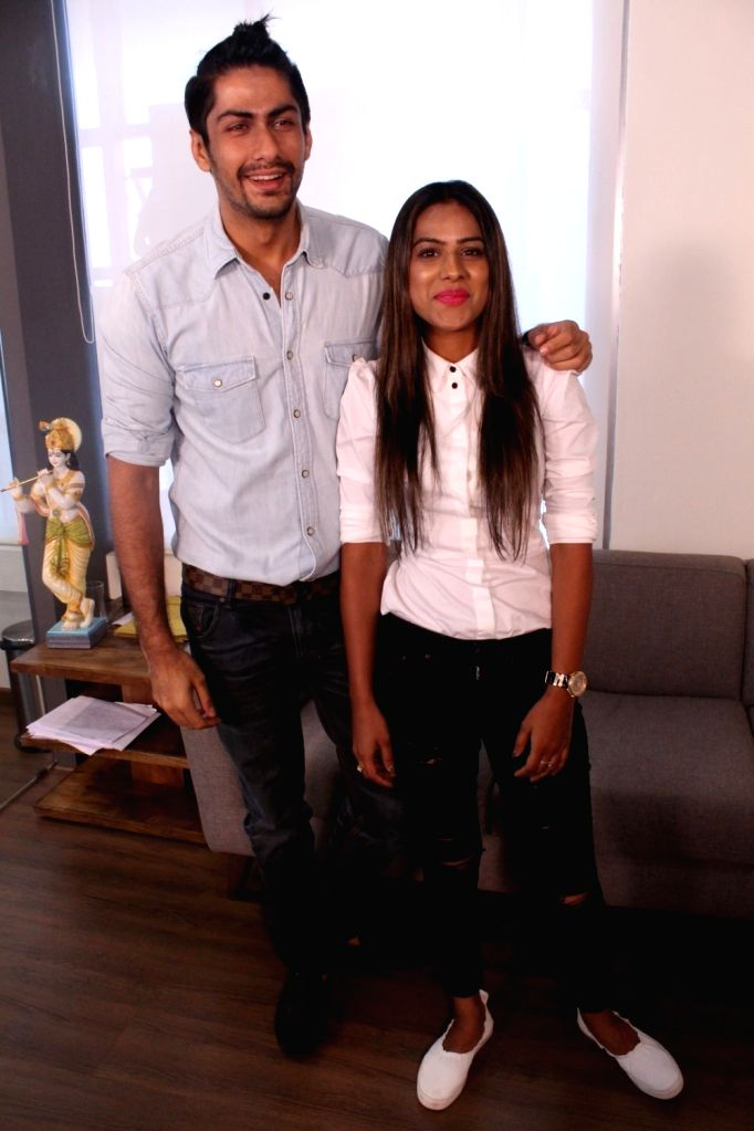 "Actors Nia Sharma and Namit Khanna during the promotional interview of web series ""Twisted"" in Mumbai on March 25, 2017. - Nia Sharma and Namit Khanna"