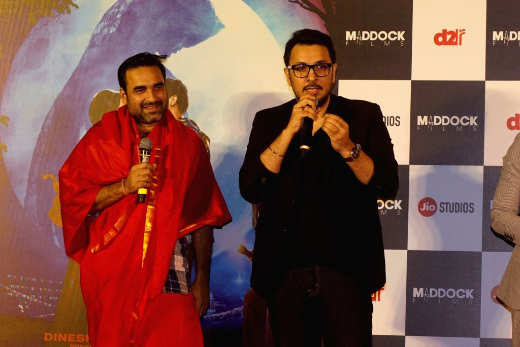"Actors Pankaj Tripathi and producer Dinesh Vijan  at the trailer launch of their upcoming film ""Stree"" in Mumbai on July 26, 2018. - Pankaj Tripathi"