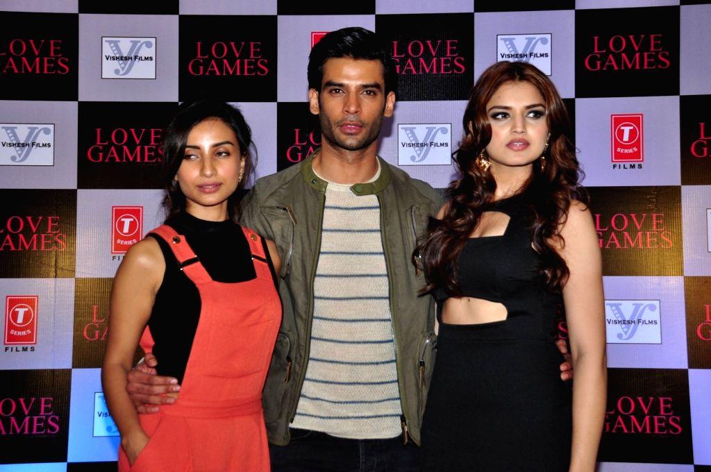 Actors Patralekha, Gaurav Arora and Tara Alisha during a press conference of film Love Games, in Mumbai, in Mumbai, on March 29, 2016. - Patralekha, Gaurav Arora and Tara Alisha