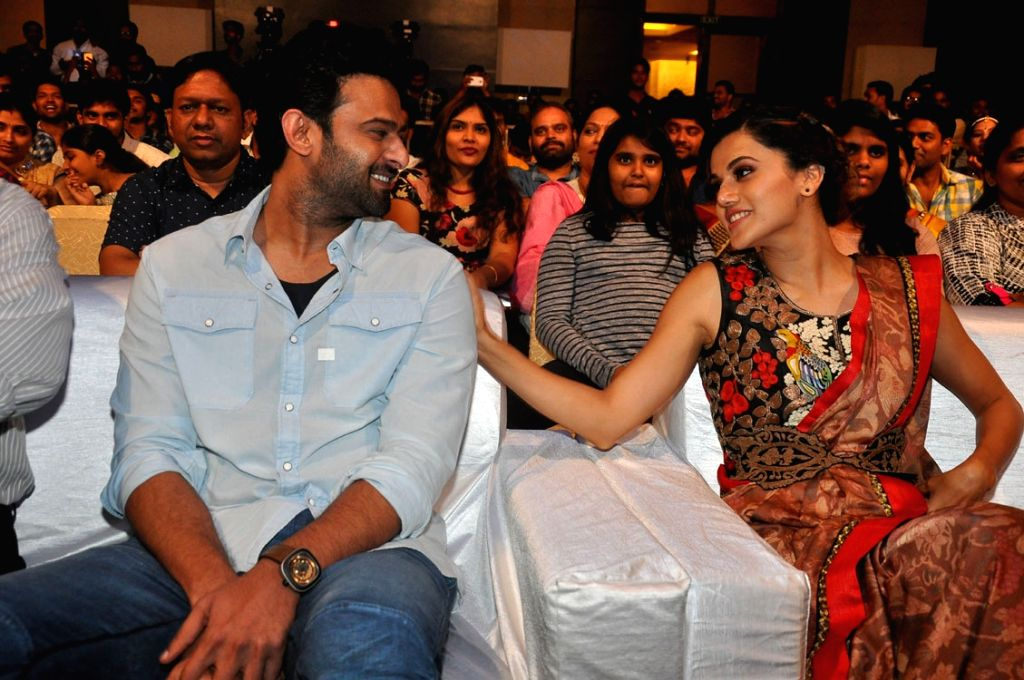 "Actors Prabhas andTaapsee Pannu stills from Telugu film ""Anando Brahma"" in Hyderabad. - Prabhas"