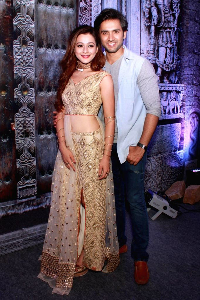 "Actors Priyal Gor and Mishkat Verma during the launch of their upcoming TV show ""Ichhapyaari Naagin"" in New Delhi on Sept 23, 2016. - Priyal Gor and Mishkat Verma"