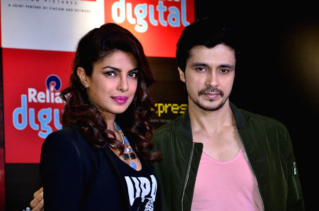 Actors Priyanka Chopra and Darshan Kumar during the promotion of film Mary Kom, in Mumbai  Sept 11, 2014. - Priyanka Chopra and Darshan Kumar