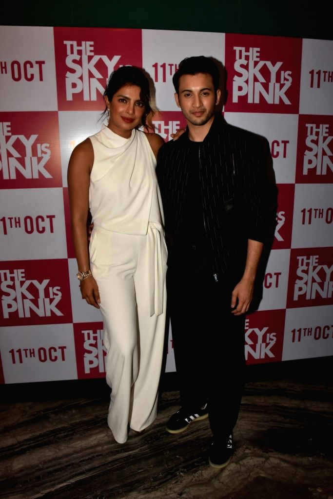 "Actors Priyanka Chopra and Rohit Suresh Saraf during the promotions of their upcoming film ""The Sky Is Pink"" in Mumbai on Sep 26, 2019. - Priyanka Chopra and Rohit Suresh Saraf"