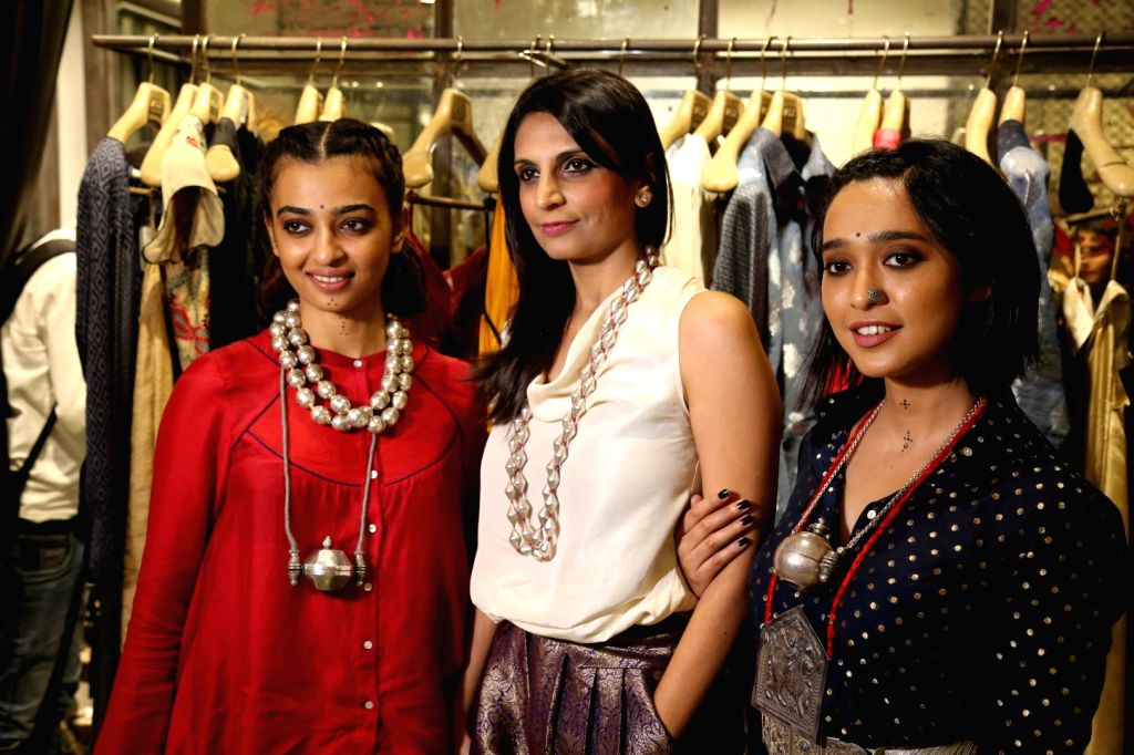 Actors Radhika Apte and Sayani Gupta during the unveiling Festive Edits from Amoh By Jade, in Mumbai on Sept 26, 2016. - Radhika Apte and Sayani Gupta