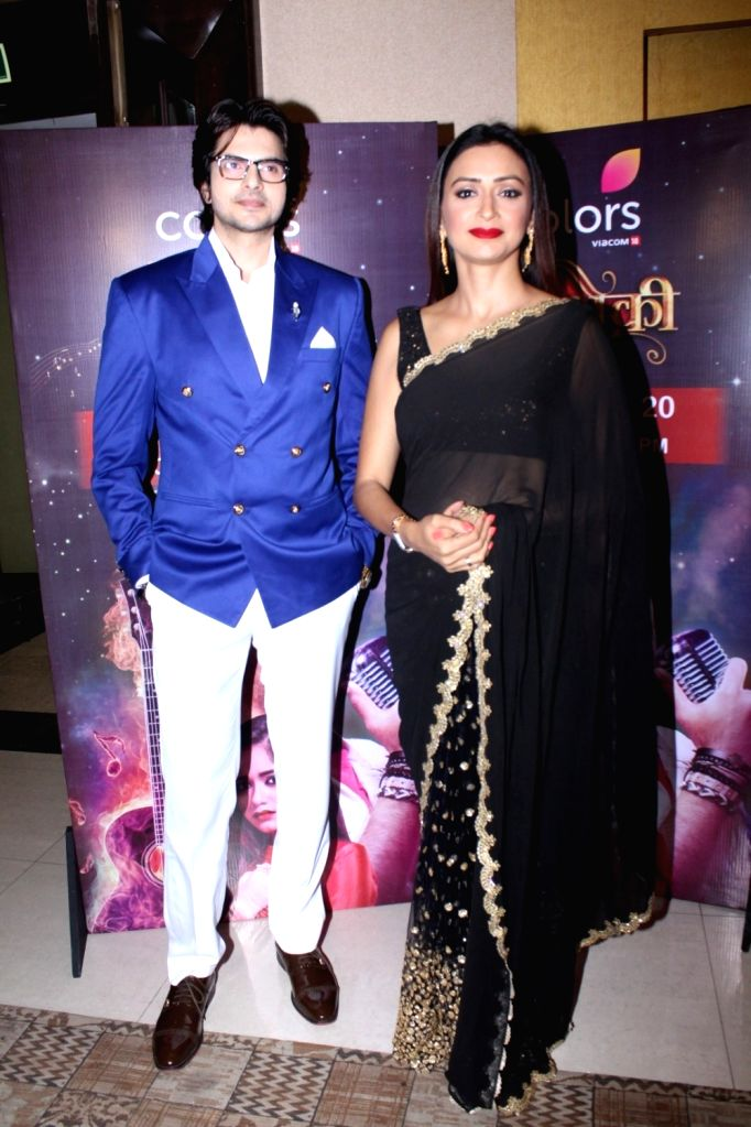 """Actors Rahil Azam and Gauri Pradhan during the launch of colors new TV Show """"Tu Aashiqui"""" in Mumbai on Sept 18, 2017. - Rahil Azam and Gauri Pradhan"""