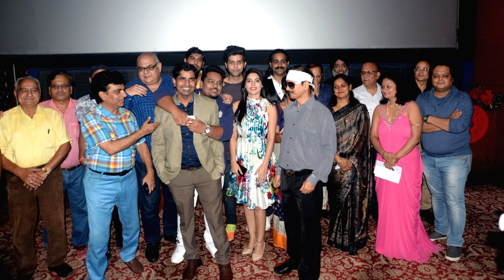"Actors Rahul Awana, Mohit Baghel and Swati Bakshi, director Jaivindra Singh Bhati and others during the special screening of their upcoming film ""When Obama Loved Osama"", in New ... - Jaivindra Singh Bhati, Rahul Awana, Mohit Baghel and Swati Bakshi"