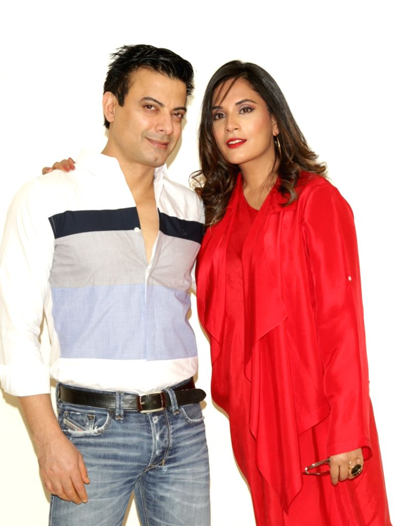 "Actors Rahul Bhat and Richa Chadda during a press conference to promote their upcoming film ""Daas Dev"", in New Delhi on April 14, 2018. - Rahul Bhat, Richa Chadda and Daas Dev"