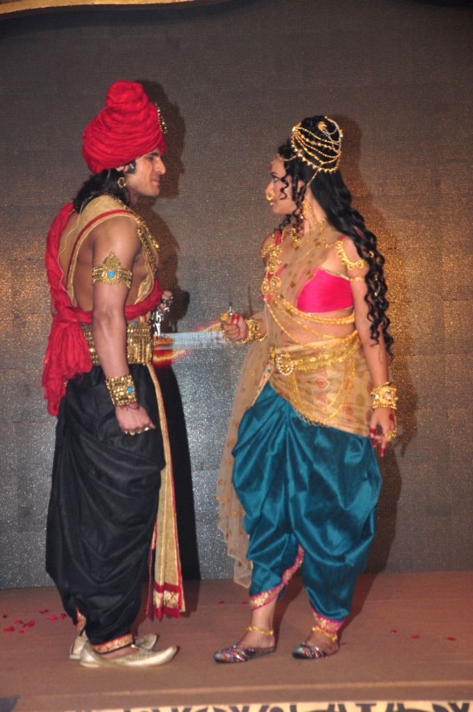 Actors Rajat Tokas and Shweta Basu Prasad during the press conference of Star Plus channel upcoming television series, Chandra Nandini, in Mumbai, on Sept 21, 2016. - Rajat Tokas and Shweta Basu Prasad